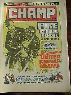 Vintage Champ Comic  Issue # 6 1984 March 31St Football United