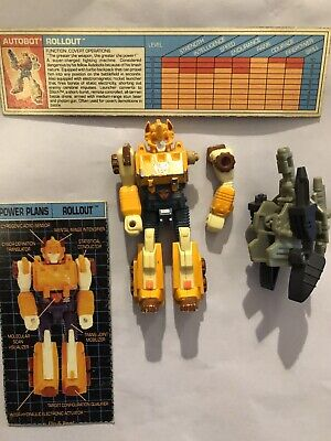 G1 TRANSFORMER ACTION MASTER JACKPOT GUN LOT # 2 PROF:CLEANED//DEAD MINT