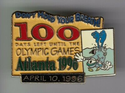 Rare Pins Pin's .. Olympique Olympic Atlanta 1996 Team 100 Days Jours  Big ~19