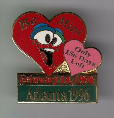 Rare Pins Pin's .. Olympique Olympic Atlanta 1996 156 Days St Valentin Big ~19