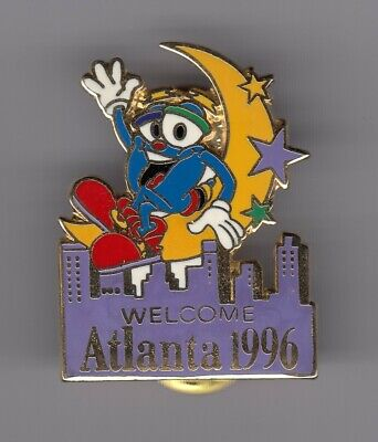 Rare Pins Pin's .. Olympique Olympic Atlanta 1996 Welcome Lune Moon Big ~19