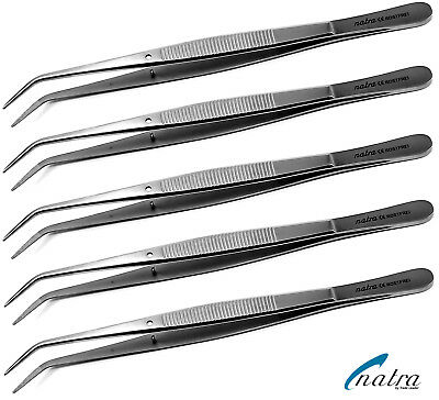 5x College Pincette Courbé 15cm Dentaire Dentiste Dent Couture Op Chirurgical