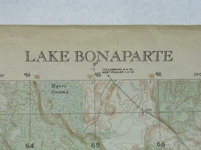 Pine Camp Map 1951 Photo & Topo by Army Map Svcs Lake Bonaparte Fowler Pitcairn