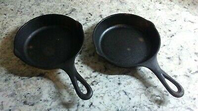 NEW Cast Iron Skillets Eggs Steak Camping Mini Lodge Frying Pan 6 Inch Set of 2