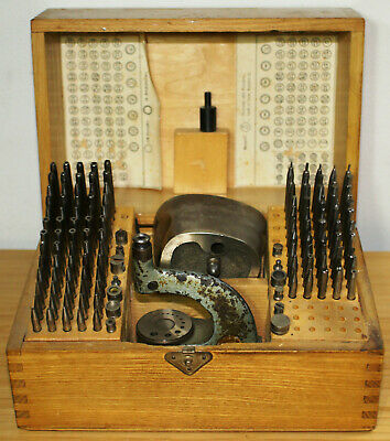 Vintage Boley Staking Tool Set Repair Tool Watch Clock Jeweler Watchmaker Punch