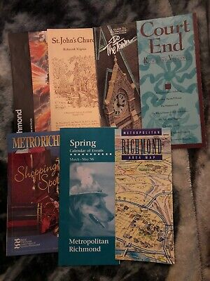 Lot of 7 Richmond Virginia Tracel Brochures