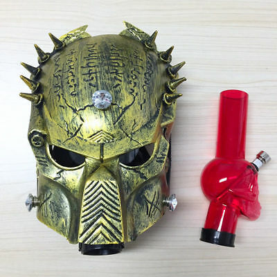 Golden Predator Silicone Gas Mask Bong Smoking W/Removable Water Pipe