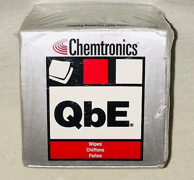 Chemtronics QbE Connector Cleaner Wipes Cube, 200 Wipes Per Box New! Sealed