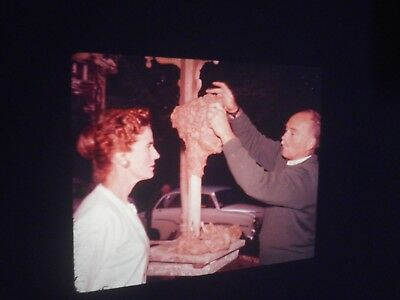 rare SA 1960s slides of Sculptor John Dowie sculpting with live model & at talk