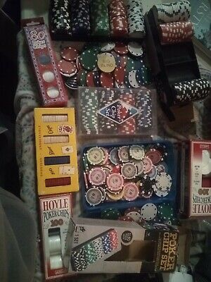 Huge Lot Of Poker Chips Some Old Some New