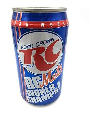 Royal Crown Cola 12 oz. Can - '86 Mets World Champs 1962 – 1986 25th Anniversary