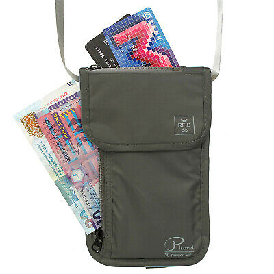 Family Passport Wallet Holder Concealed Travel Pouch For Family Travel