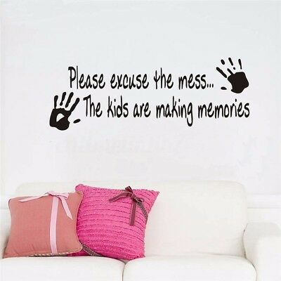 PERSONALISED BEDROOM Excuse The Mess Memories Wall Art Vinyl Decal Sticker V134