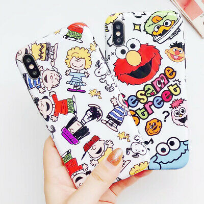 Cartoon Snoopy Sesame Street Phone Case Silicone Cover For iPhone X 6S 7 8 Plus