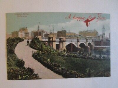 Antique Happy New Year Postcard 2006 great condition Princes Bridge Melbourne