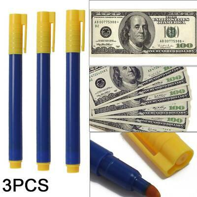 3pcs Money Tester Pens Forged Note Detector Fake Notes Checker Pen UK