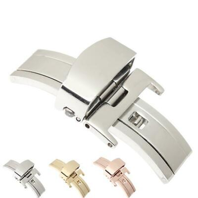 Stainless Steel Button Deployant Watch Band Buckle Clasp 10 12 14 16 18 20 22mm