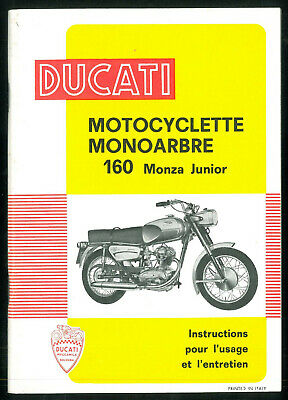 Instructions d'Entretien DUCATI 160 MONZA JUNIOR Manuel en Français ORIGINAL