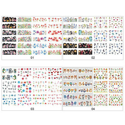 Nail Water Decals Butterfly Flower Patterns Transfer Sticker Nail Art Decors