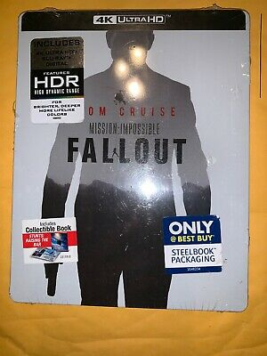 Mission: Impossible FallOut Steelbook (4K ULTRA HD+Blu-ray/Digital)NEW Free Ship