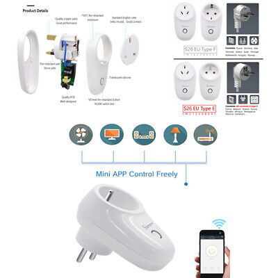 Sonoff S26 S20 Wifi Smart Power Socket Outlet Timer Switch For ALEXA GOOGLE HOME