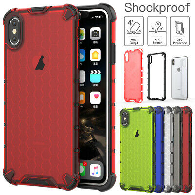 Fr iPhone XS Max XR XS 8 7 6s Clear Case Shockproof Bumper Slim Hybrid TPU Cover