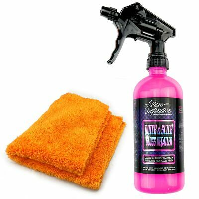 Car Detailer Kit Quick Detailing Spray Wax Microfibre Cloth Clay Lubricant Lube