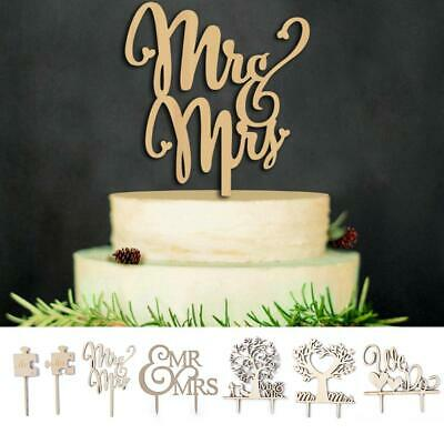 Rustic Love Cake Decoration Party Romantic Wooden Wedding Cake
