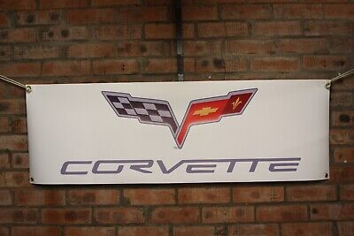 Chevrolet Corvette c1 c2 c3 c4 c5 c6 c7  pvc large WORK SHOP BANNER garage