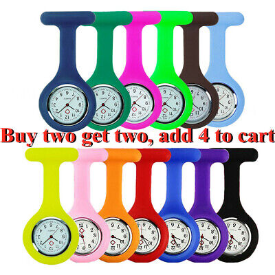 Silicone Nurse Watch Brooch Tunic Fob Watch With Free Battery Doctor Medical FRD