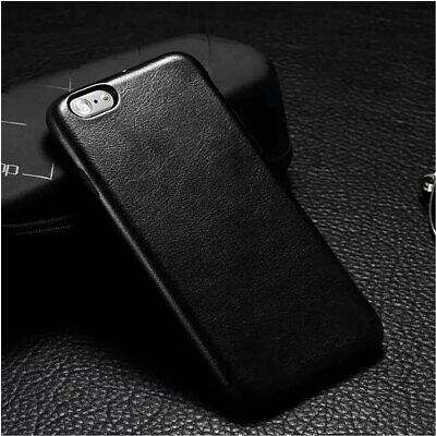 Genuine Original PU Leather Thin Slim Case Cover Apple iPhone Samsung Phones NEW