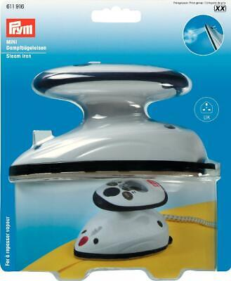 Prym Mini Steam Iron, Travel Iron, Uk Plug, 611 916, Free P&P
