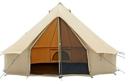 Bell Tent 3m, 4m & 5m,100% Cotton Canvas w/Fire & Water Repellent for Glamping