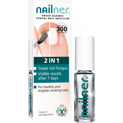 2 X Nailner Fungal Nail Infection 2IN1 Brush-5m (10ml total) Expire Date-04/2020