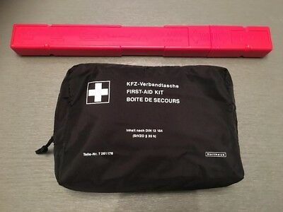 GENUINE BMW Emergency First Aid Travel Kit & WARNING TRIANGLE EXPIRY 2021