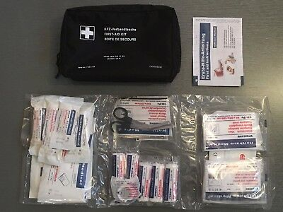 GENUINE BMW Emergency First Aid Travel Kit with Storage Bag EXPIRY 2019