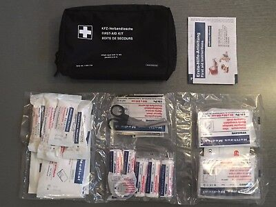 GENUINE BMW Emergency First Aid Travel Kit with Storage Bag EXPIRY 2023