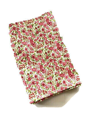 April Cornell Table Runner Raspberry and Pink Floral Country Chic 70 x 13
