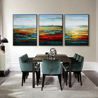 VV550 3pcs Modern Large Hand painted  abstract oil painting on canvas