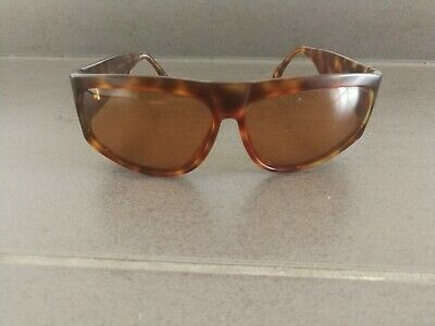 Vintage Valentino Tortoise Acetate Oversized Sunglasses Made In Italy As Is