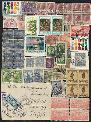 (111cents) World Wide Collection of used Stamps x 200+