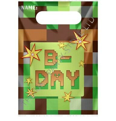 TNT PARTY GAMING BLOCKS LOOT BAGS Birthday Party Supplies Boys Favour Kids Party