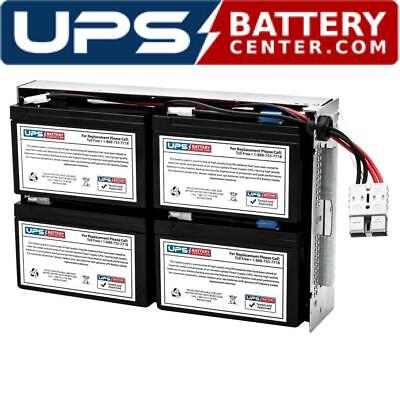 UPSBatteryCenter SMT3000RM2U APC Smart-UPS 3000VA LCD RM 2U SMT3000RM2U Compatible Battery Pack RBC43 Replacement