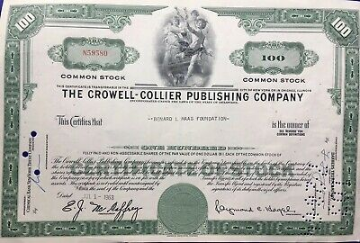 The Crowell Collier Publishing Company Bank Bond Newyork Chicago 1963