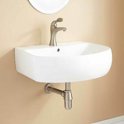 Signature Hardware Roano Porcelain Wall Mount Bathroom Sink