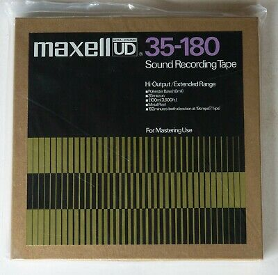Lot of 9 NEW Maxell UD 35-180 Reel to Reel Tapes 3600ft 10 1/2in Metal Reels