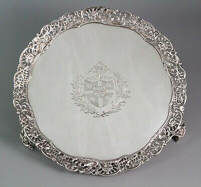 An early George III shaped circular salver with a cast gallery, Walter Tweedie