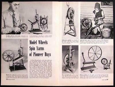 Model Spinning Wheels 1948 pictorial Irish Dutch & more