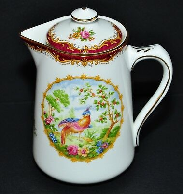 Royal Albert Chelsea Bird Hot Water Pot With Lid - Very Rare Vintage - Mint