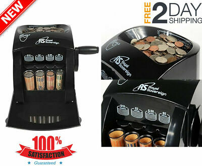 Manual Coin Sorter Counting Machine Counter Money Cash Sorting Anti Jam Roll✔N